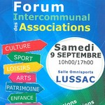 Forum intercommunal des associations  samedi 9 septembre 2017 Lussac